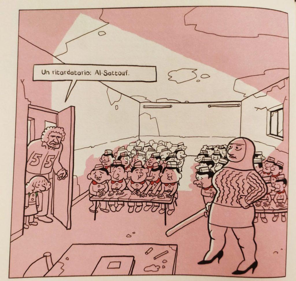Mio caro fumetto... - L'arrivo in classe ne L'arabo del futuro 2