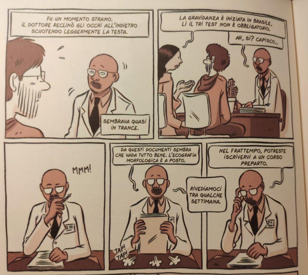 Mio caro fumetto... - Prima visita prenatale in Francia in Non è te che aspettavo