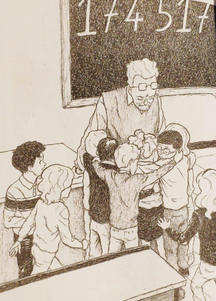 Mio caro fumetto... - Primo Levi abbracciato dai bambini della scuola