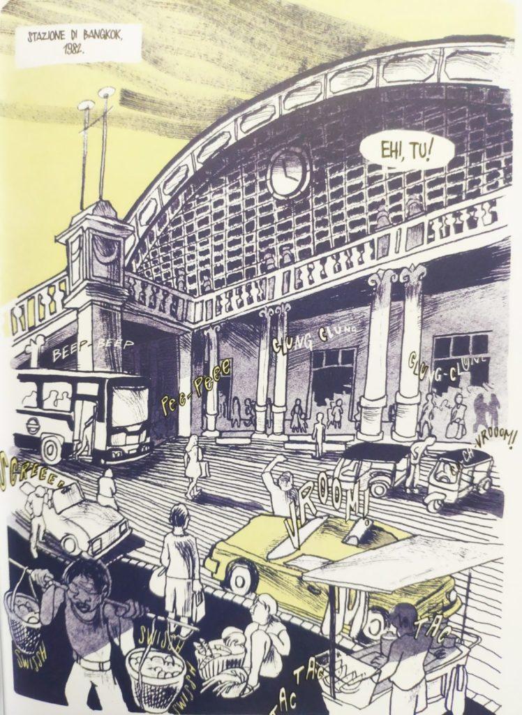 Mio caro fumetto... - la stazione di Bangkok ne Il re di Bangkok