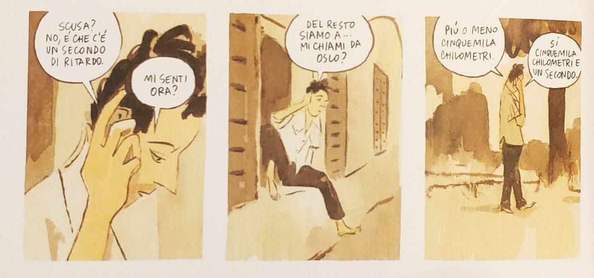 Mio caro fumetto... - Immagine che spiega solo in parte il titolo del libro Cinquemila chilometri al secondo