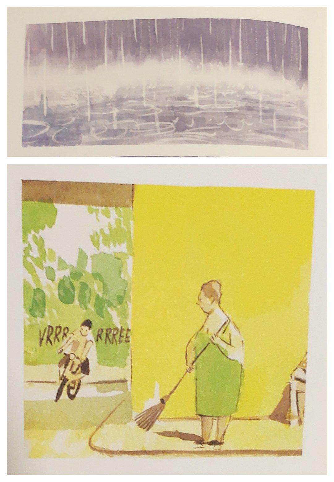 Mio caro fumetto... - Immagini che esemplificano l'uso differenziato delle tinte degli acquerelli (cupe e luminose).