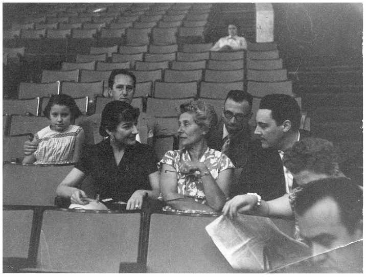 Mio caro fumetto... - Maria Callas e Mario Del Monaco con mio nonno e altri all'Auditorium della RAI di Roma 2