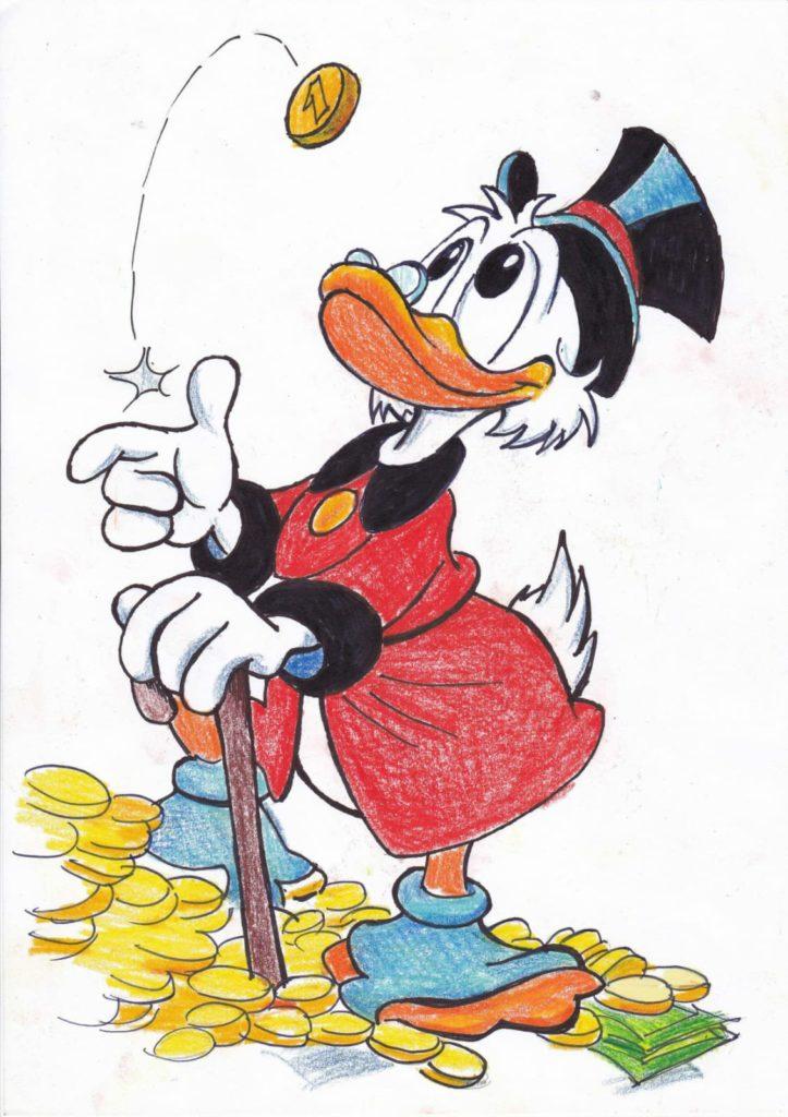 Mio caro fumetto... - Paperon de'Paperoni copia originale di Carlo Campanelli