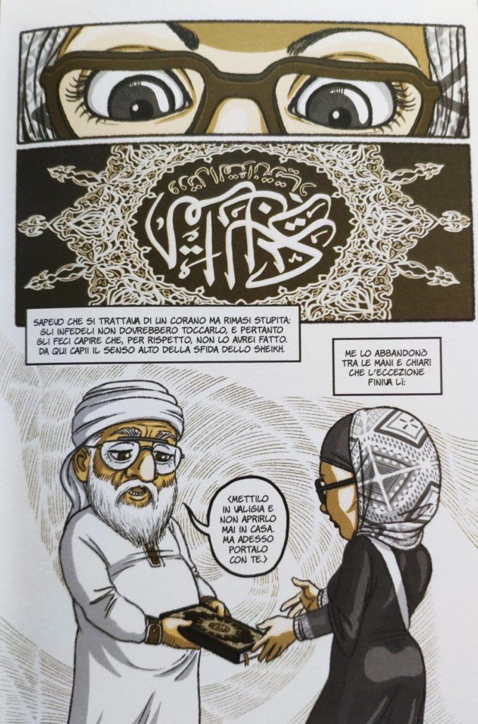 Mio caro fumetto... - Particolare de La sposa yemenita sull'incontro tra Laura Silvia Battaglia e lo Sheikh