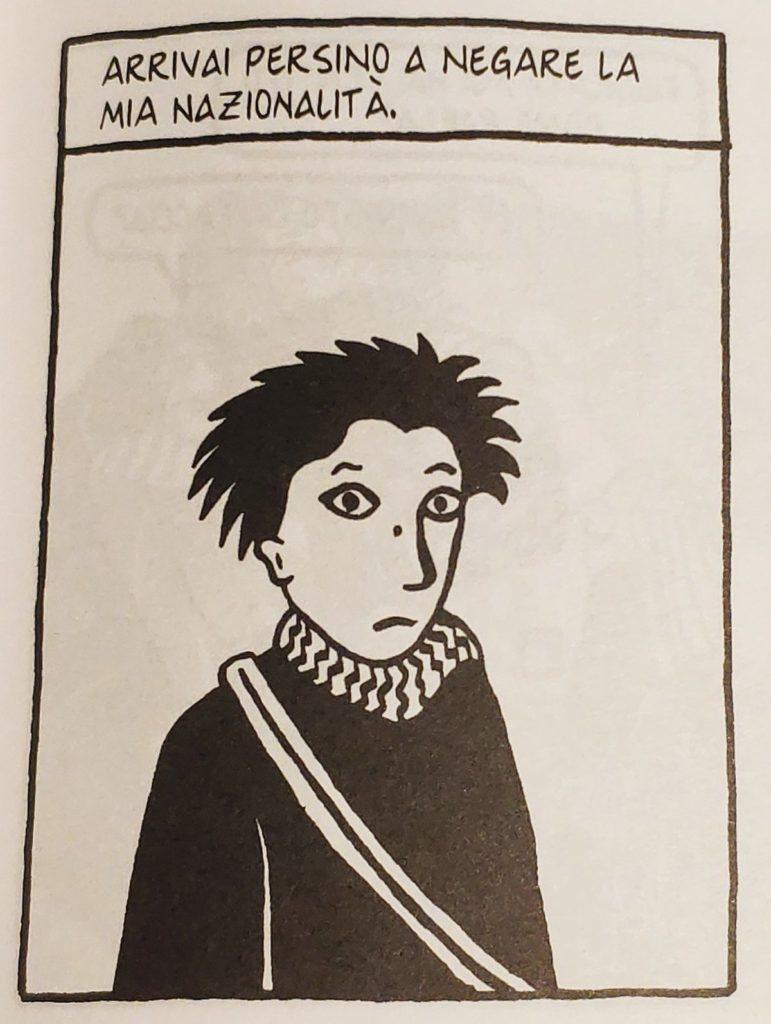 Mio caro fumetto... - Particolare di Persepolis sulla negazione della propria nazionalità