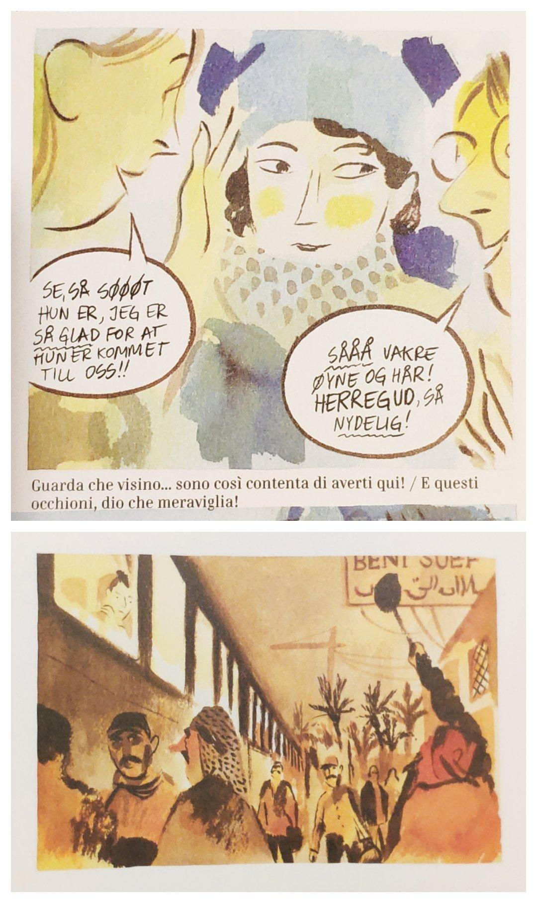 Mio caro fumetto... - Immagini che esemplificano l'uso differenziato delle tinte degli acquerelli (fredde e calde).