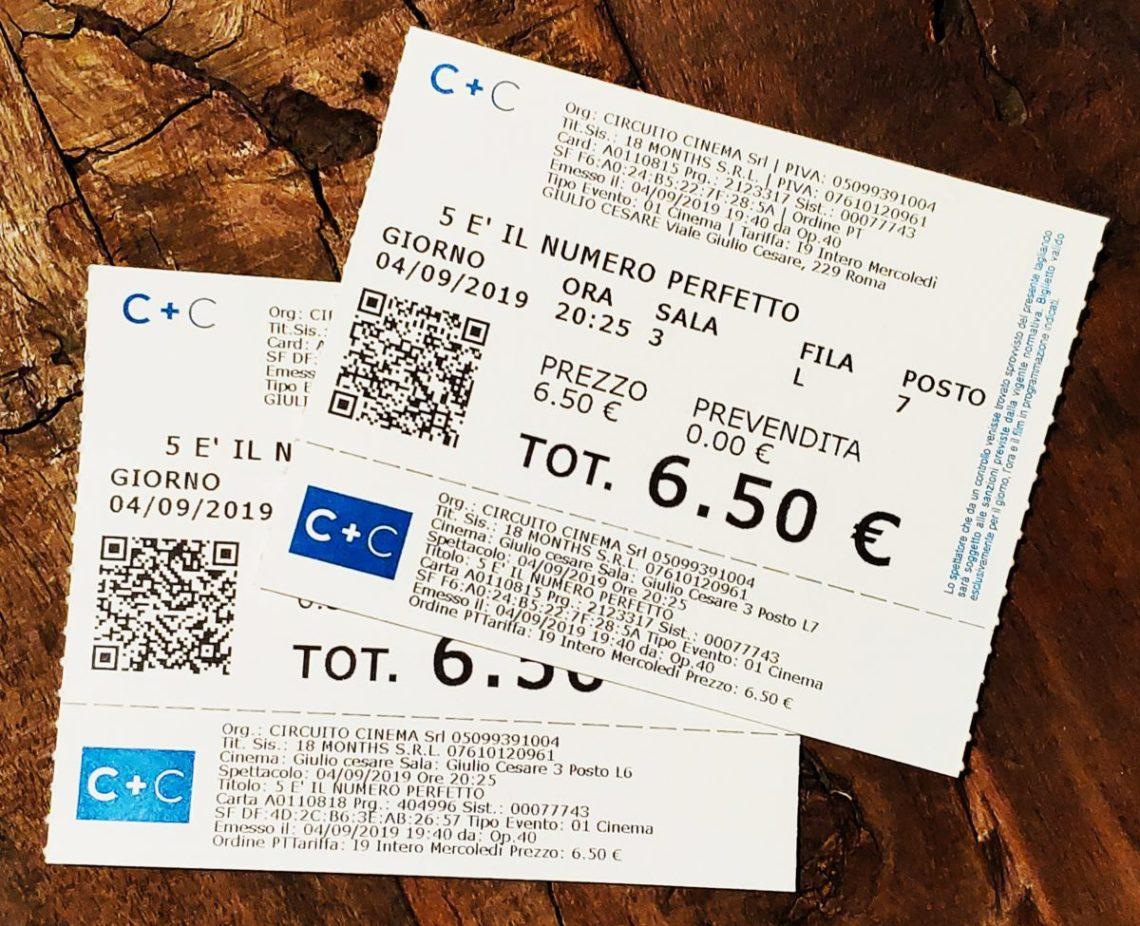 Mio caro fumetto... - Biglietti del cinema per 5 è il numero perfetto