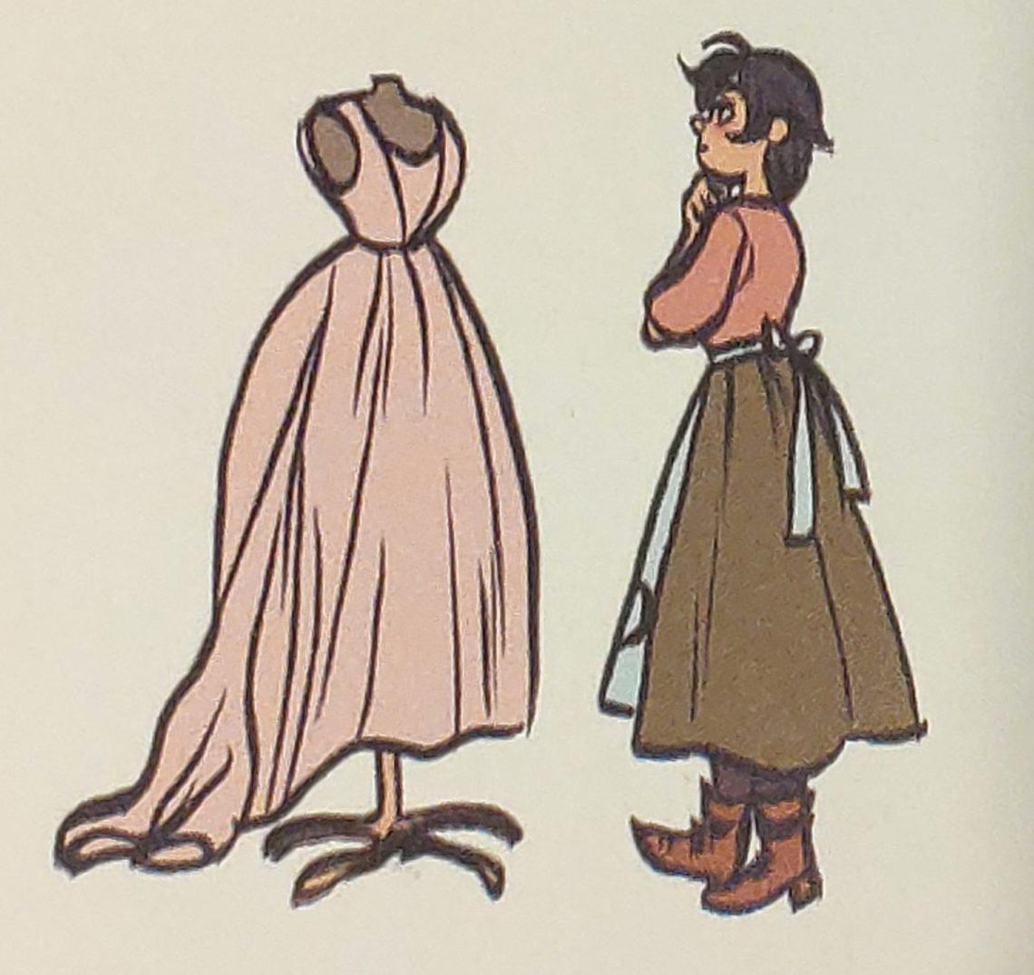 Mio caro fumetto... - Frances e un modello sul manichino