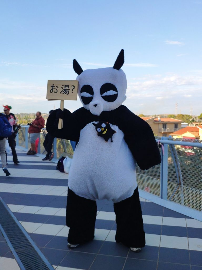 Mio caro fumetto... - Cosplay di Genma Saotome panda al Romics