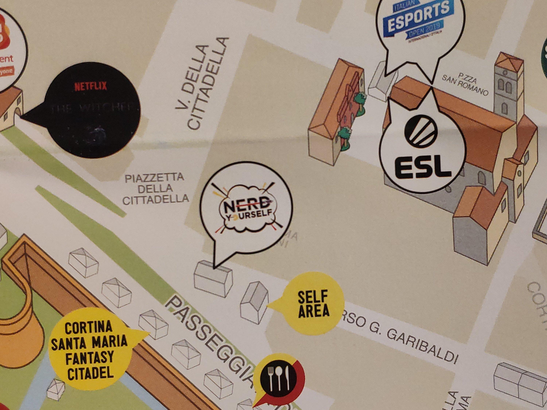 Mio Caro Fumetto - Lucca Comics & Rain 2019 - Dettaglio della mappa di Lucca Comics and Games 2019: self area.