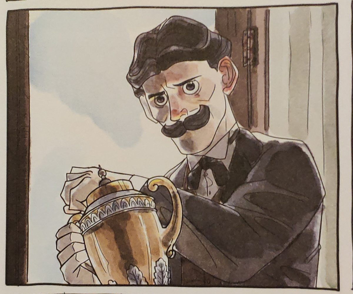 Mio Caro Fumetto - La corsa è lunga e alla fine è solo con te stesso - Vignetta con Dorando Pietri e la coppa.