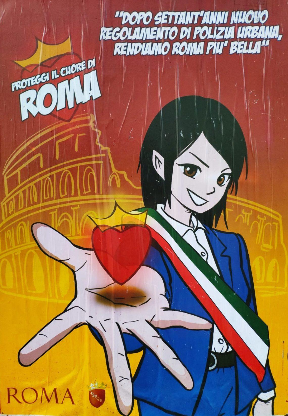 """Mio caro fumetto… - Virginia Raggi e """"il cuore di Roma"""""""