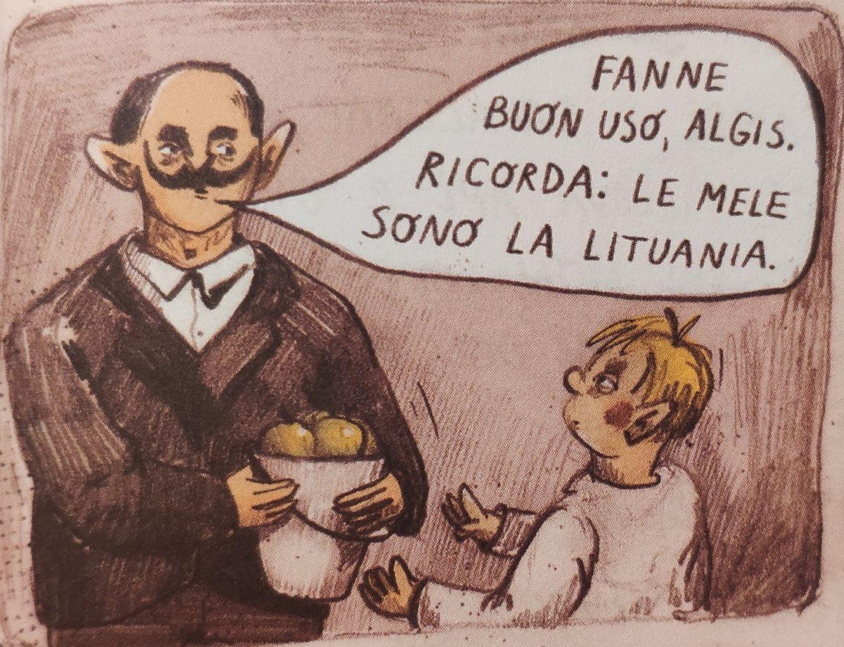 Mio caro fumetto... - Algis, il papà Romano e le mele