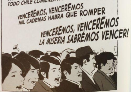 Mio caro fumetto... - Manifestanti a Santiago intonano Venceremos degli Intillimani!