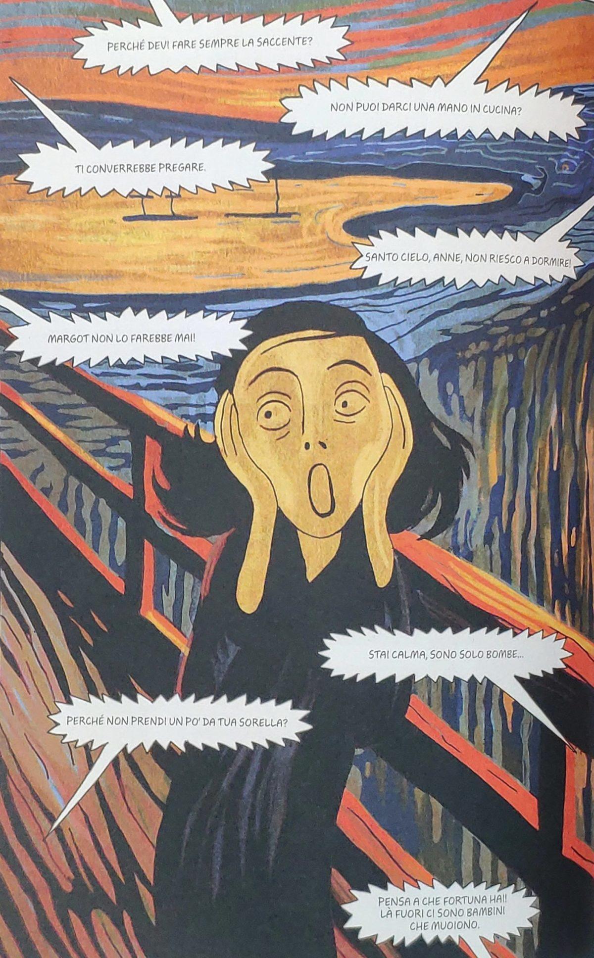 Mio caro fumetto… – Anne Frank ne L'urlo di Edvard Munch