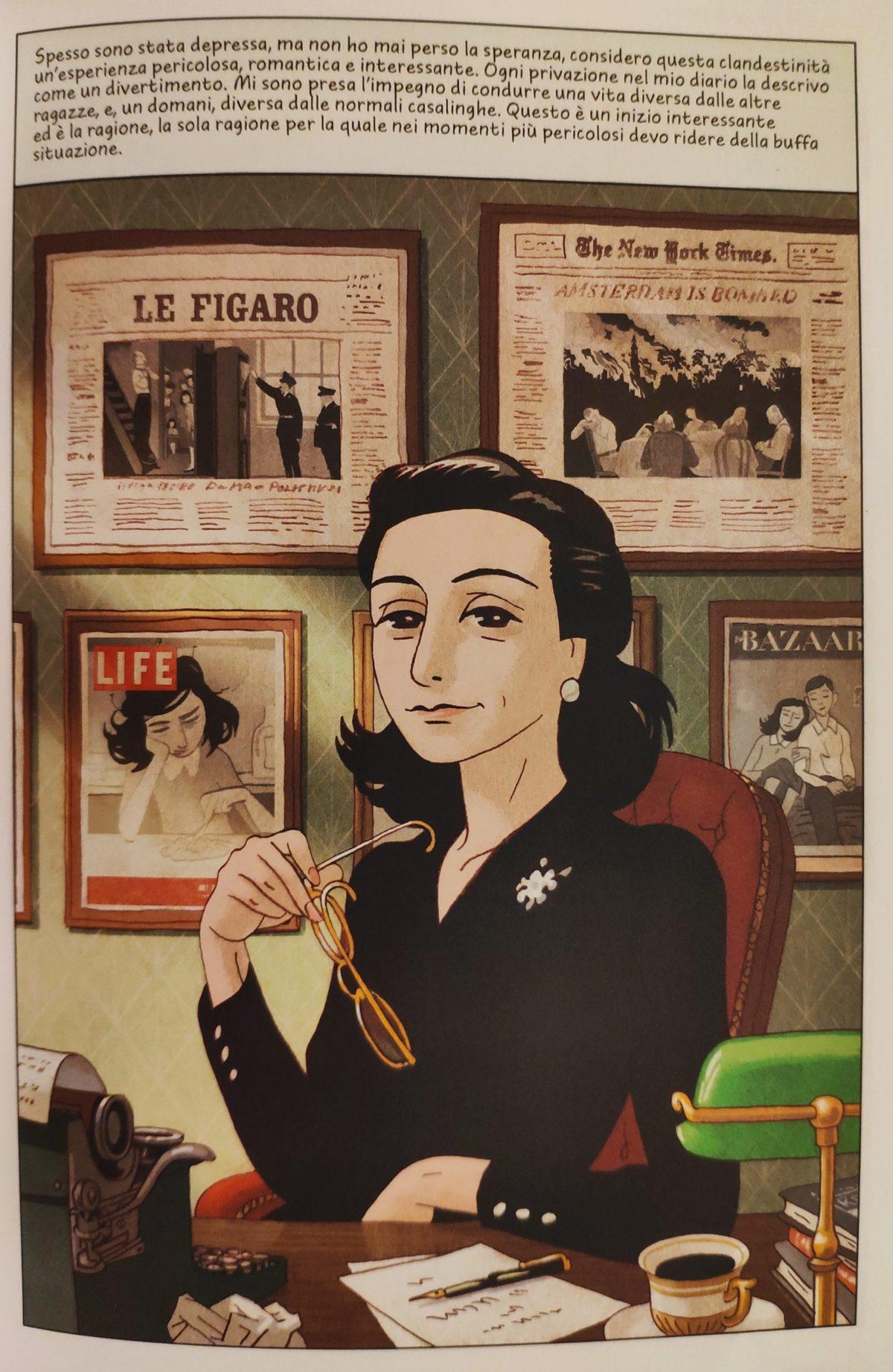 Mio caro fumetto… – Anne Frank sogna di divenire giornalista