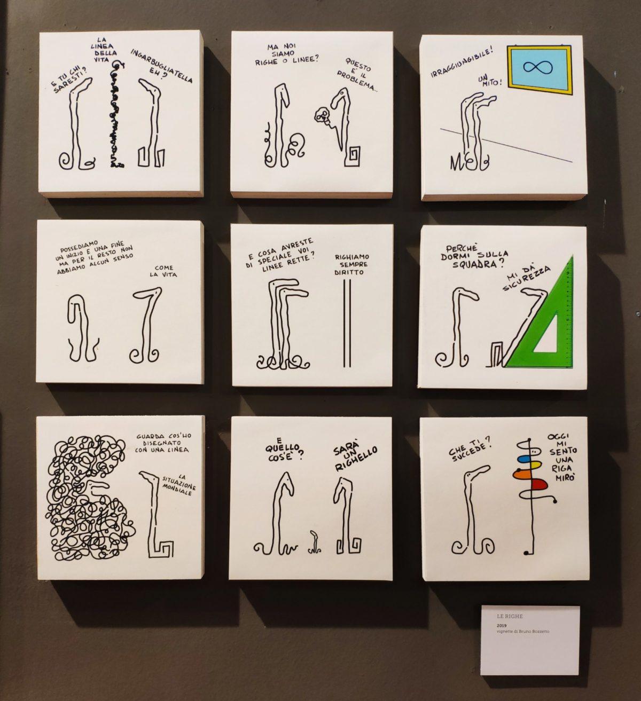 """Mio caro fumetto… – """"Le righe"""": vignette di Bruno Bozzetto del 2019"""