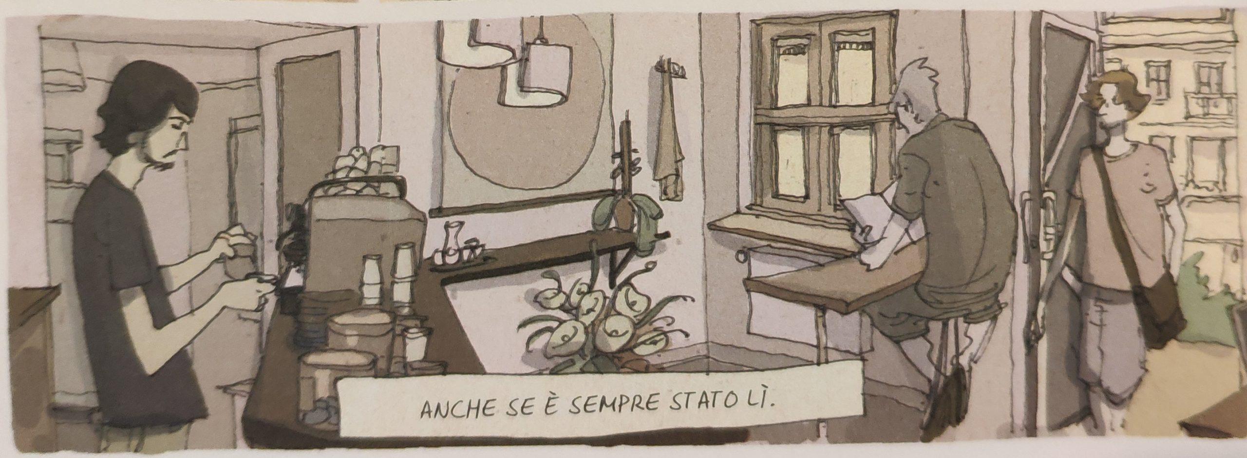 Mio caro fumetto… – Interno del Five Elephant Coffee di Berlino secondo Madrigal