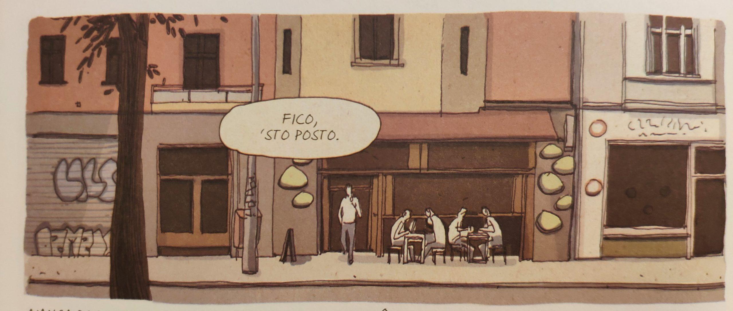 Mio caro fumetto… – Esterno del Goodies Coffee di Berlino secondo Madrigal