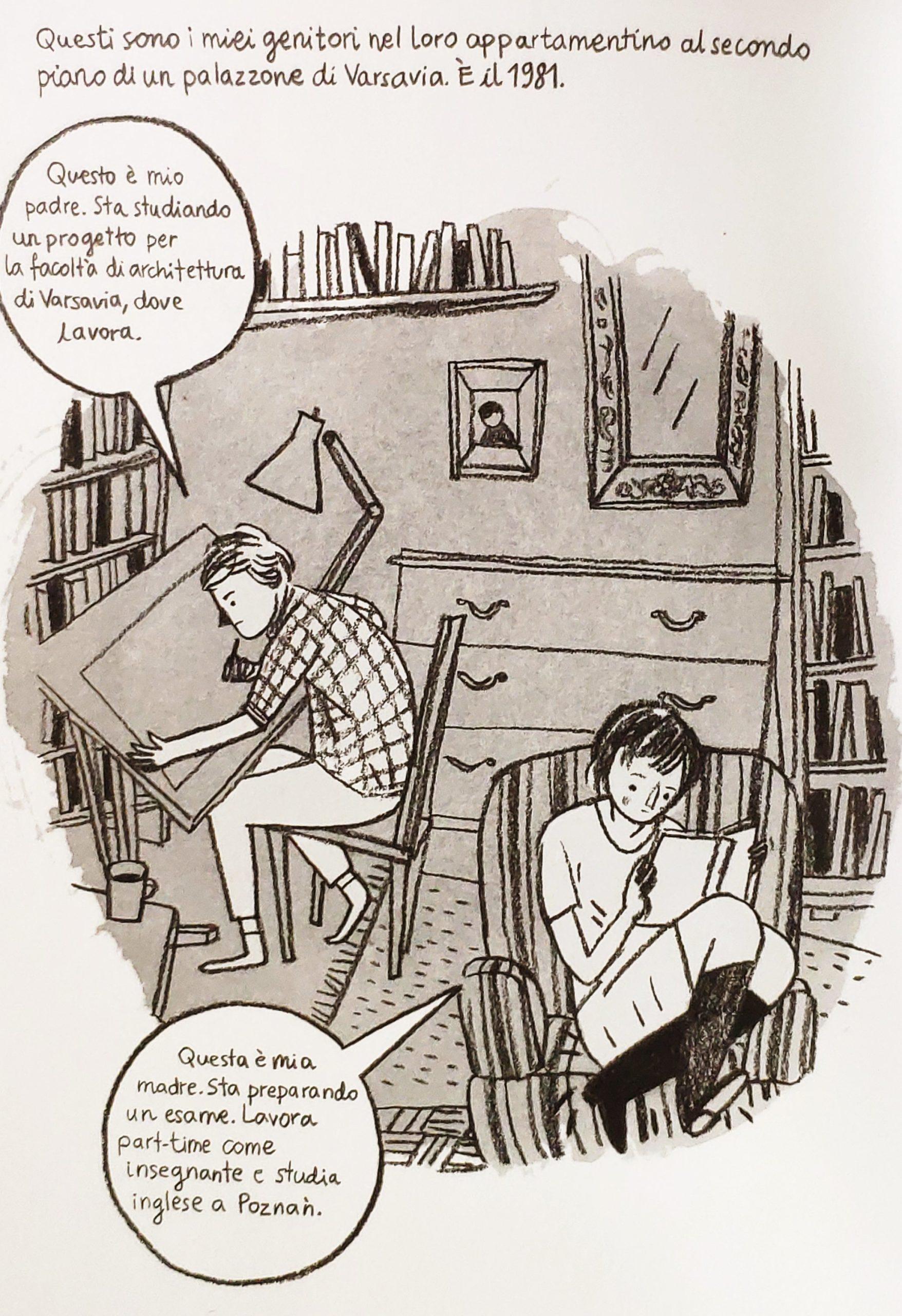 Mio caro fumetto… – Mamma Ewa e papà Bogdan nella casa di Varsavia