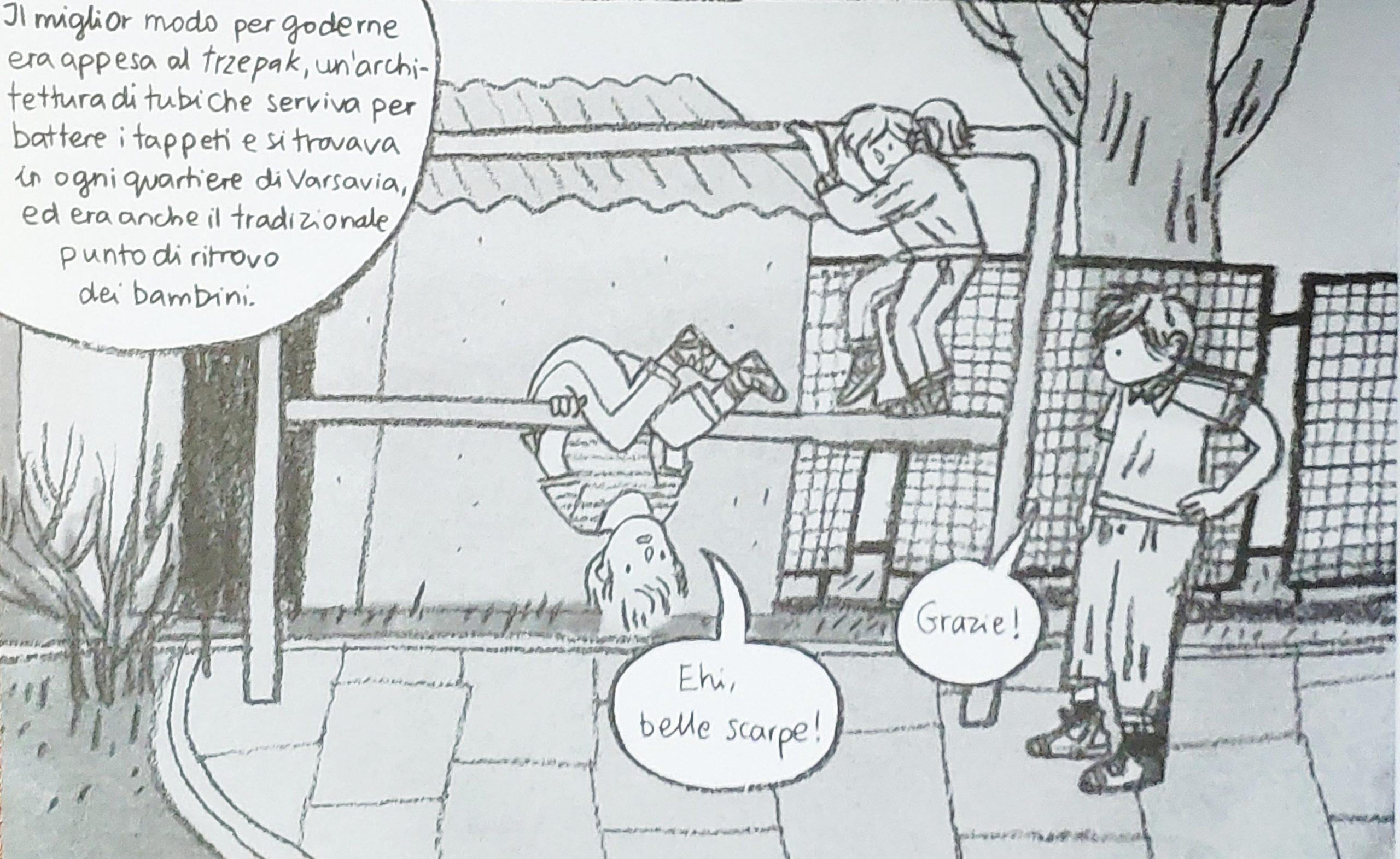 Mio caro fumetto… – I giochi al trzepak vicino casa. Una prospettiva a testa in giù