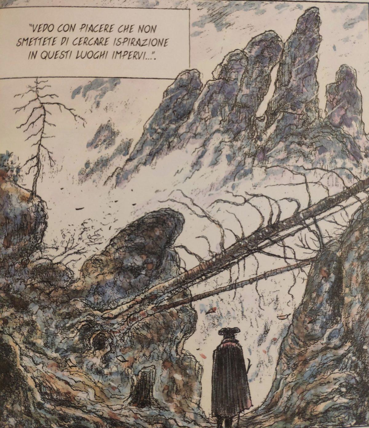 Mio caro fumetto… – Burrone roccioso nelle montagne di arenaria dell'Elba