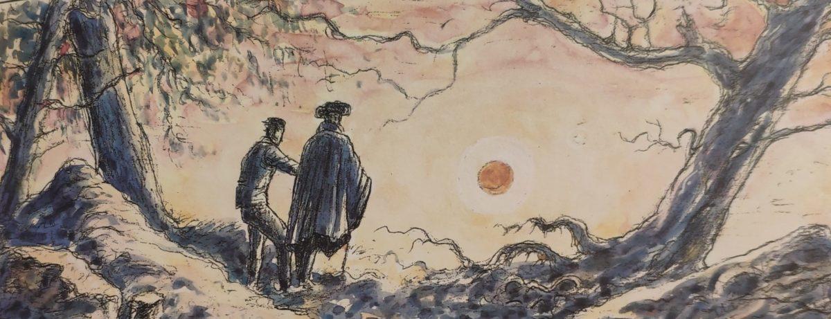 Mio caro fumetto… – Due uomini che contemplano la luna