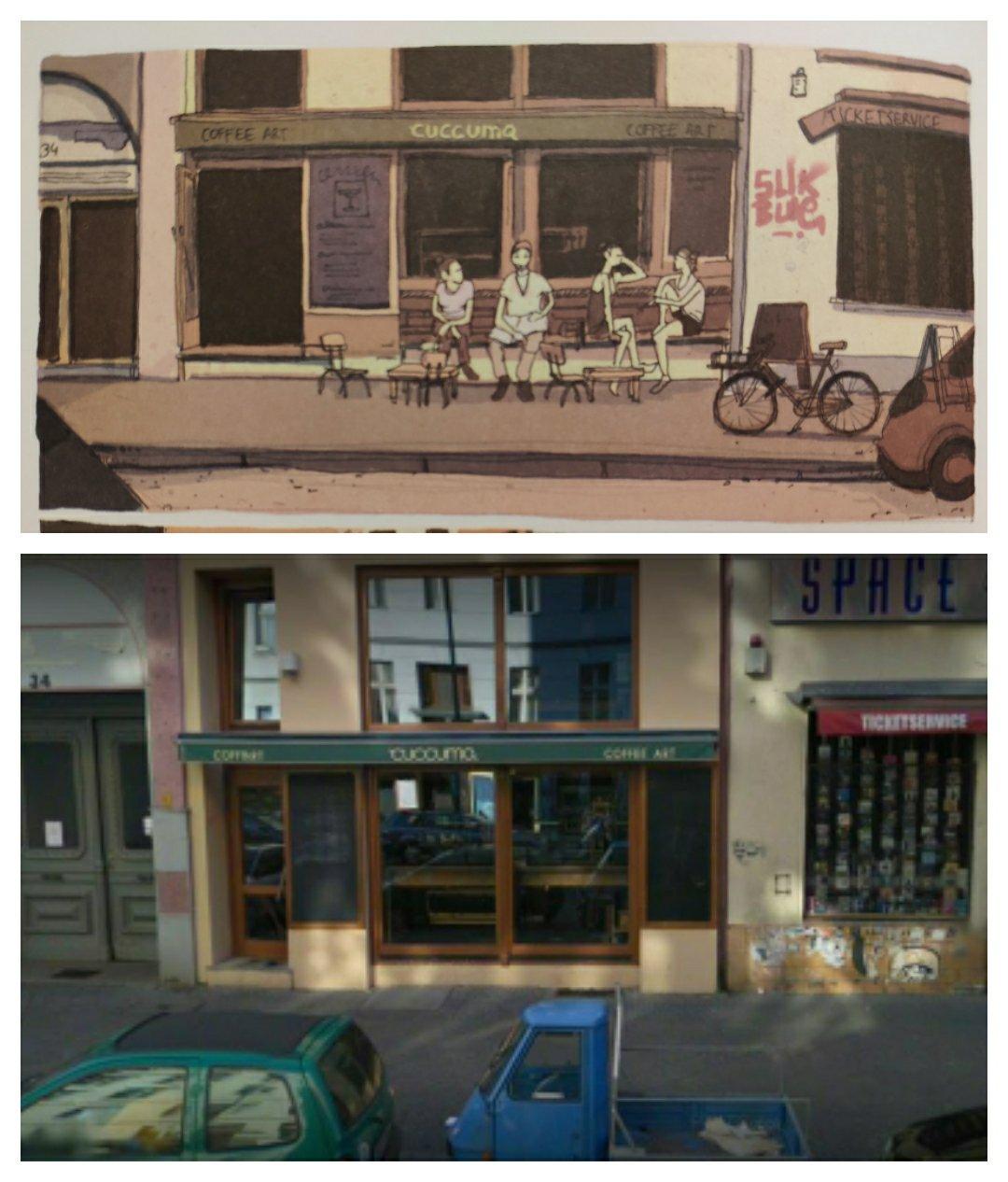Mio caro fumetto… – Esterno del Cuccuma Coffee di Berlino
