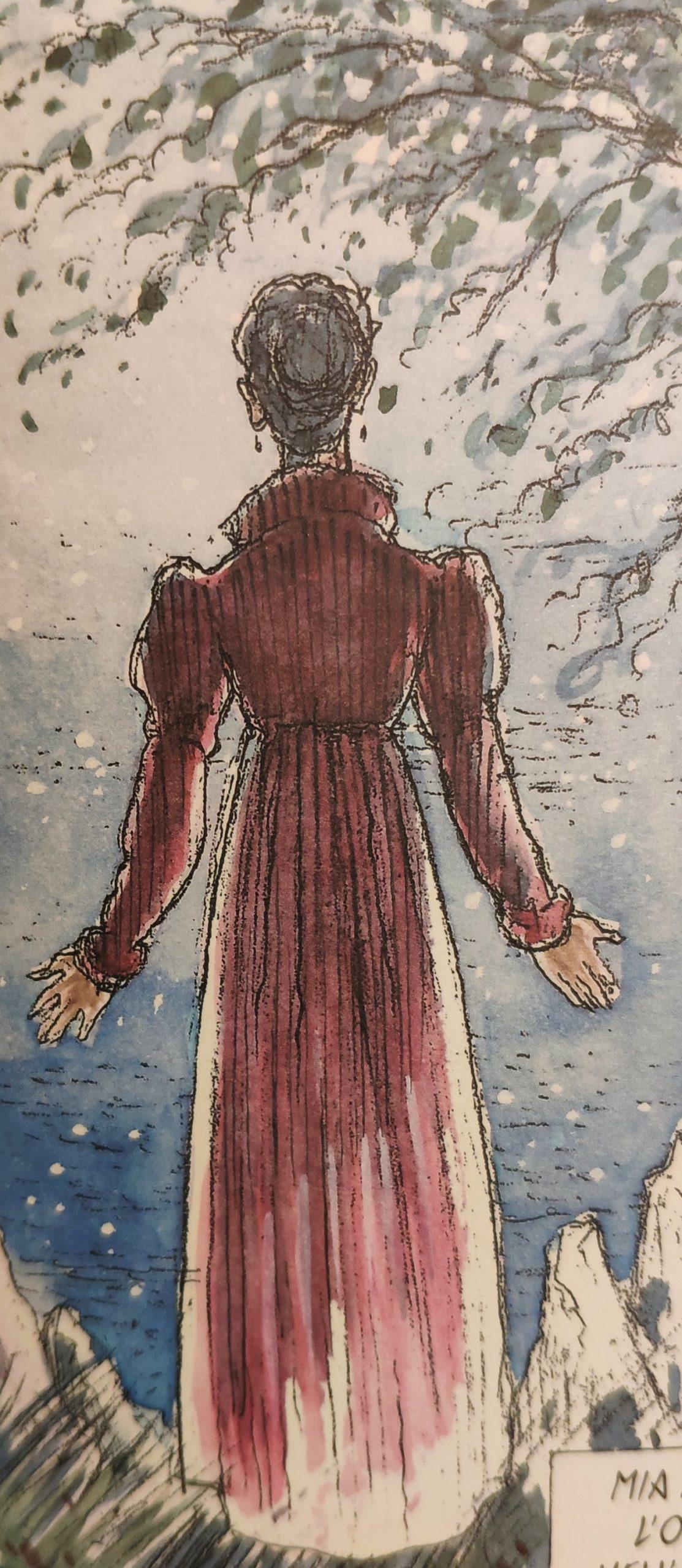 Mio caro fumetto… – Evocazione del quadro Donna al tramonto del sole
