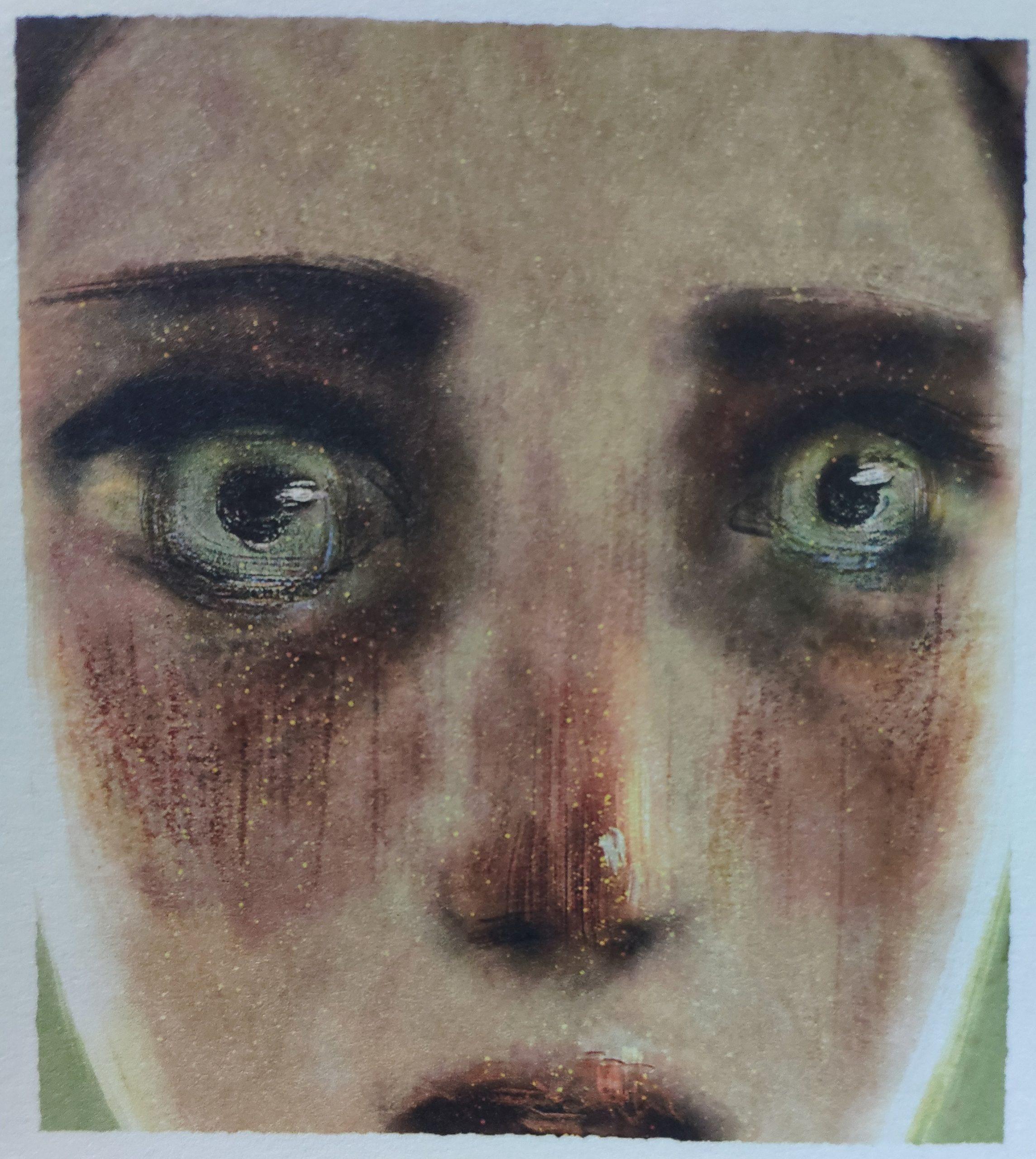 Mio caro fumetto… – Espressione del volto di Clara, protagonista di Lucenera