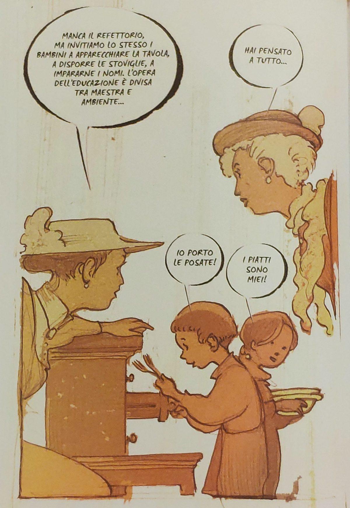 Mio caro fumetto… – Bambini autonomi nell'apparecchiare e disporre le stoviglie