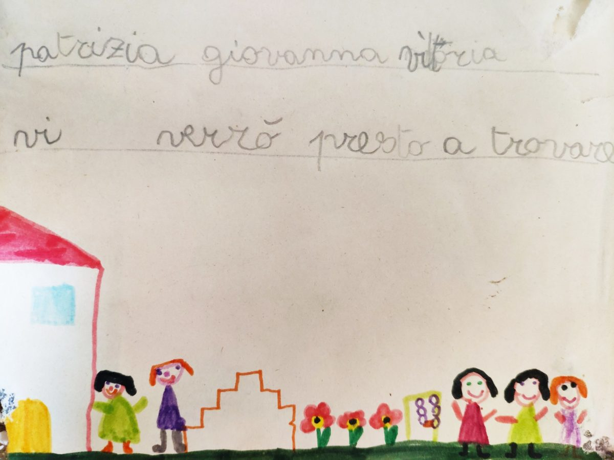 Mio caro fumetto… – Disegno della scuola e del giardino fatto da me alla Casa del bambino