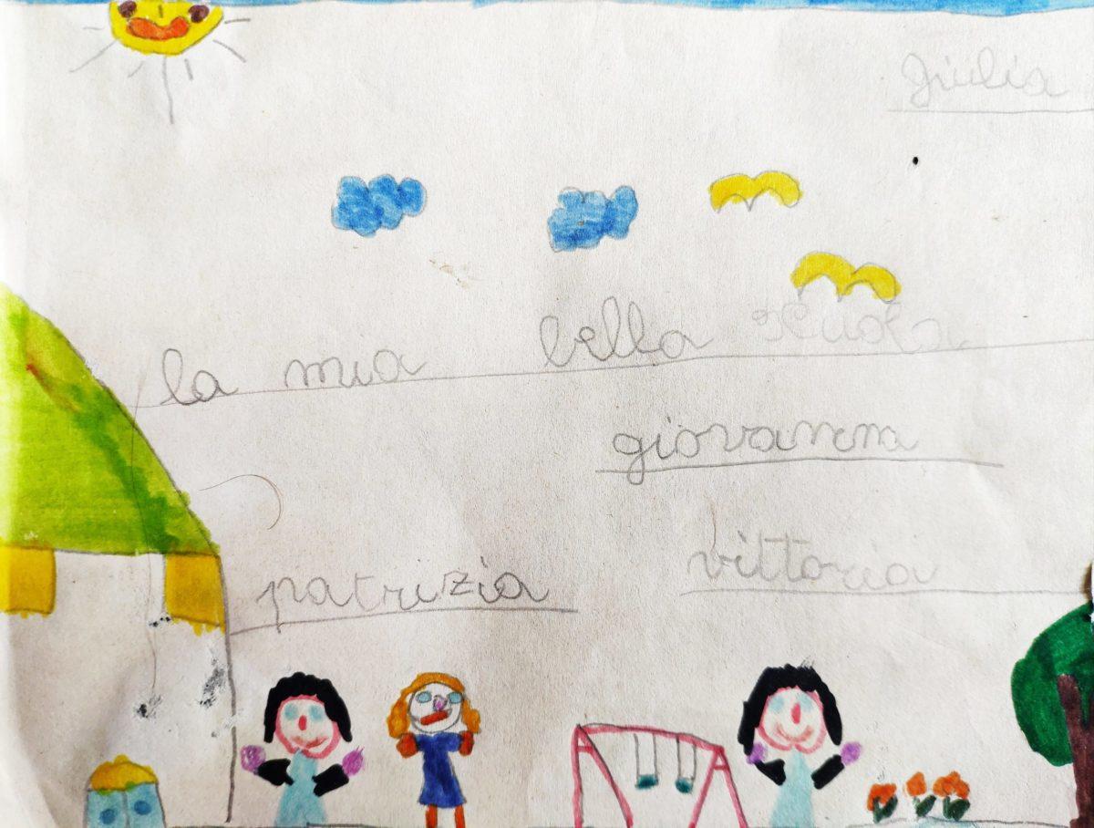 Mio caro fumetto… – Disegno fatto alla Casa del bambino quando ero piccola