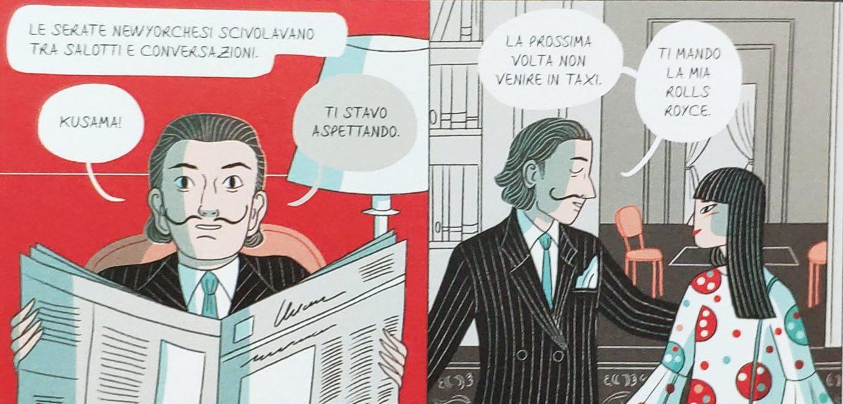 Mio caro fumetto... - Yayoi Kusama e Salvador Dalí