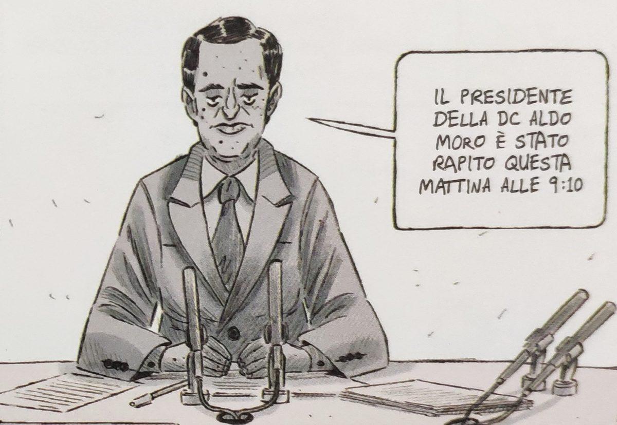 Mio caro fumetto... - Bruno Vespa e l'edizione straordinaria del Tg1, uno dei tanti ritratti realistici di Rosso è il perdono