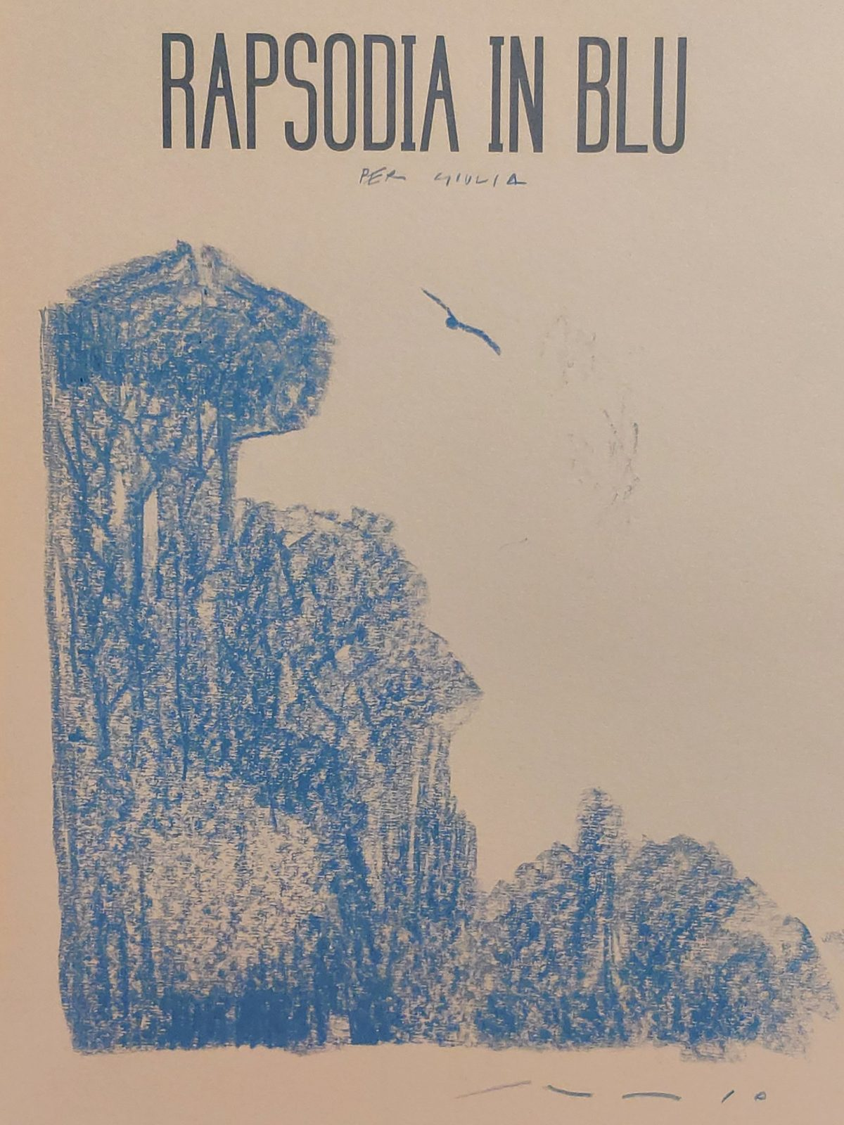 Mio caro fumetto... - La dedica di Andrea Serio alla mia copia di Rapsodia in blu