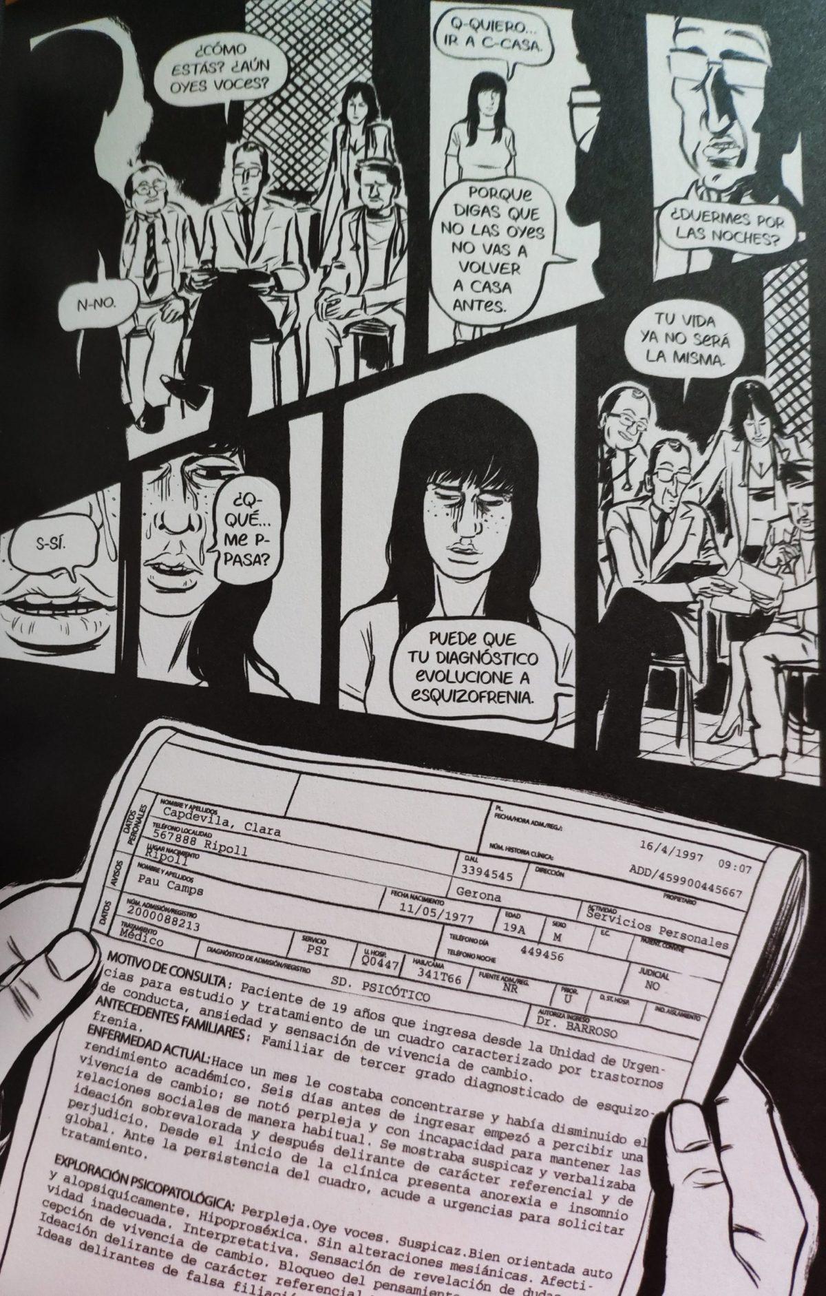 Mio caro fumetto... - Diagnosi e violenza psicologica durante il mese d'internamento