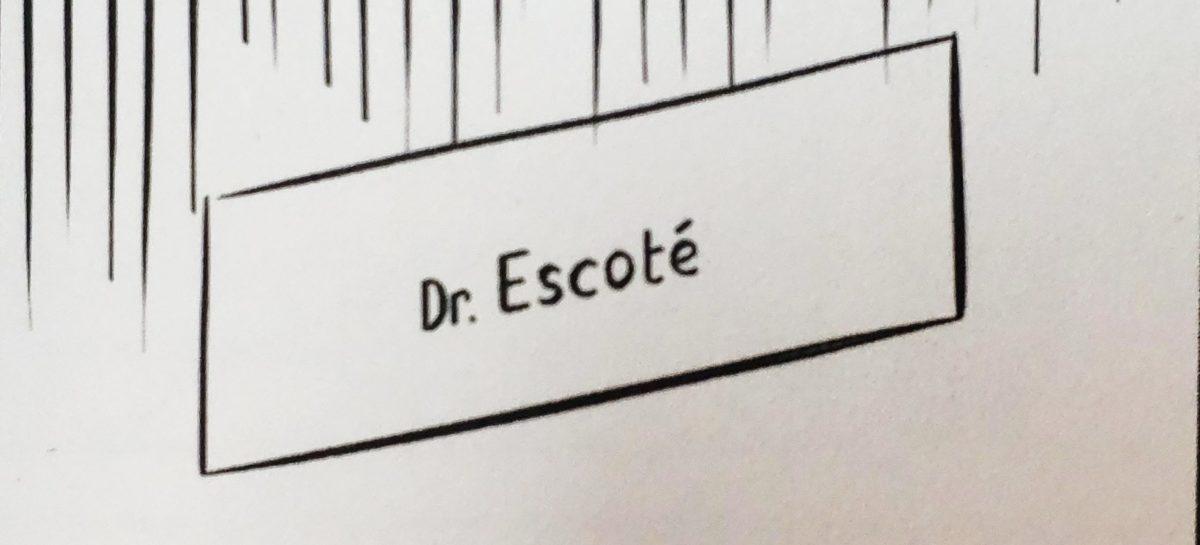 Mio caro fumetto... - La targhetta sulla porta del dottor Santi Escoté