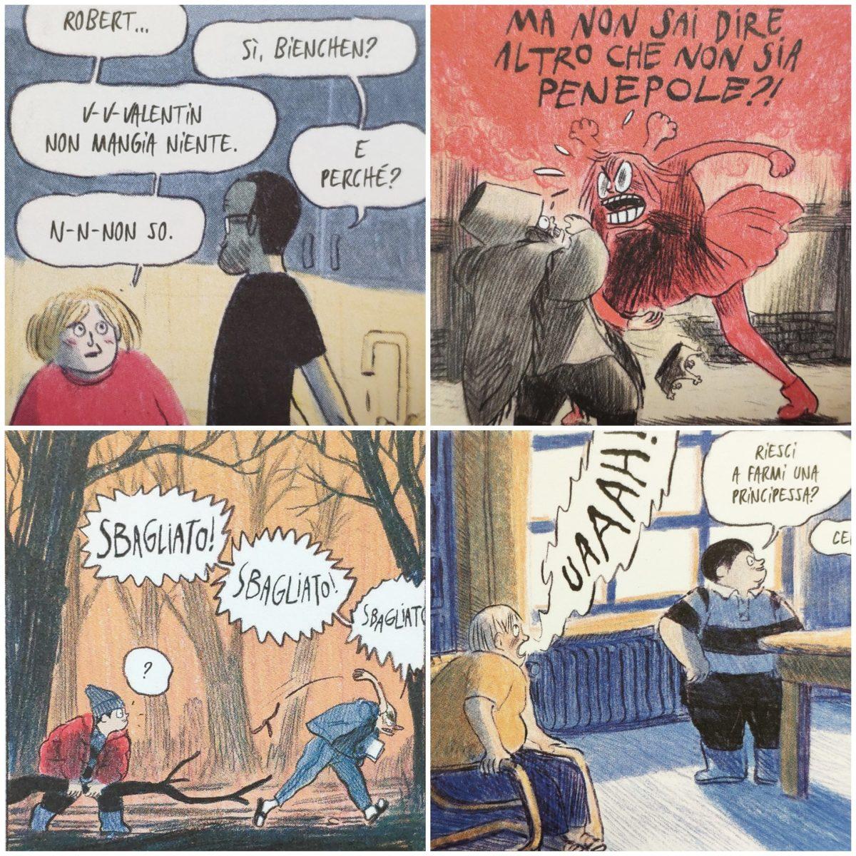 Mio caro fumetto... - Esempi di comunicazione verbale in Imparare a cadere