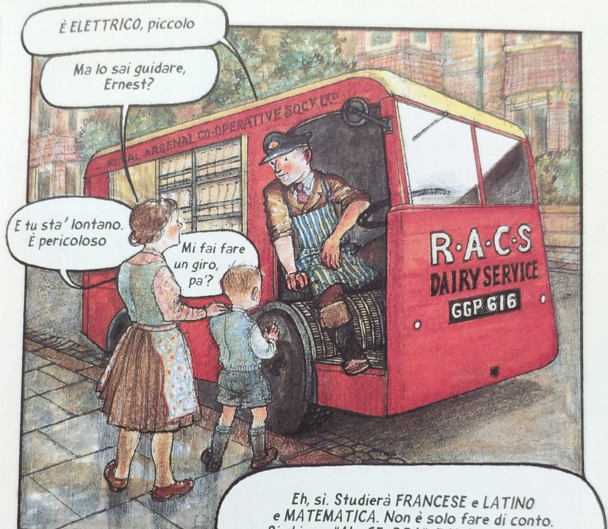 Mio caro fumetto... - Il camioncino elettrico per distribuire il latte