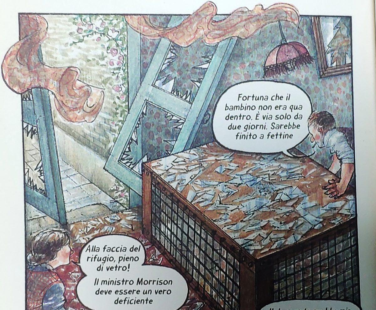 Mio caro fumetto... - Rifugio di Morrison a gabbia dopo un bombardamento