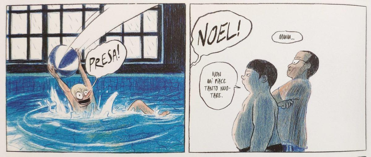 Mio caro fumetto... - Valentin e Noel in piscina con Robert