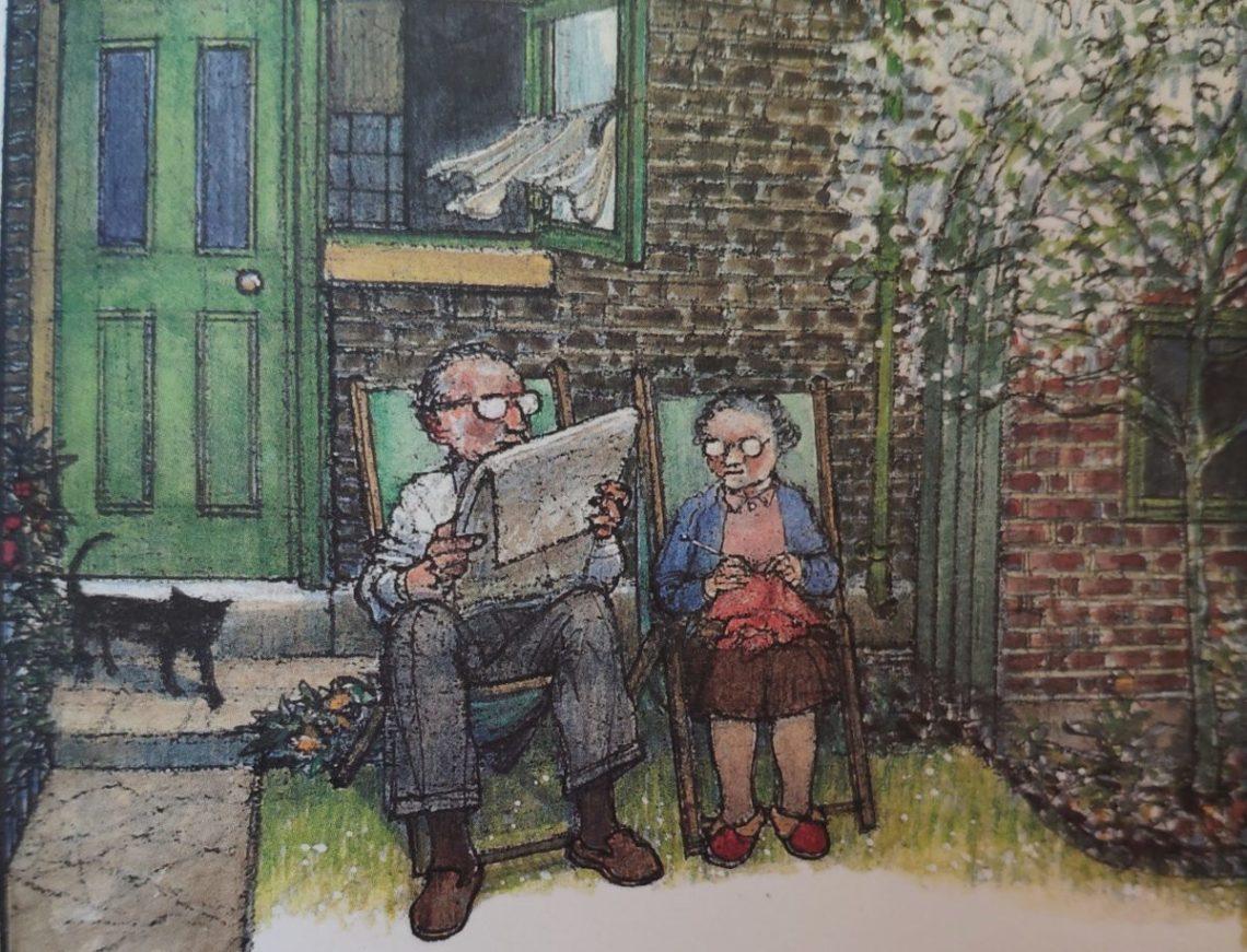 Mio caro fumetto... - Ethel e Ernest da anziani nel loro giardino