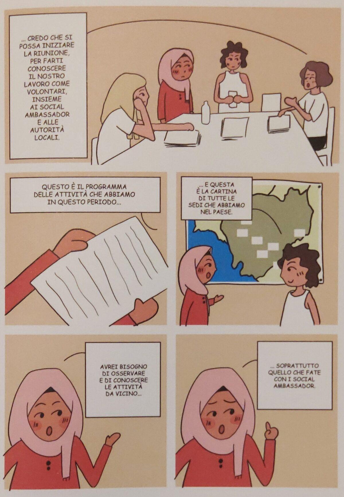 Mio caro fumetto... - Takoua Ben Mohamed nella sede operativa di WeWorld. dalla sua esperienza nascerà Un'altra via per la Cambogia