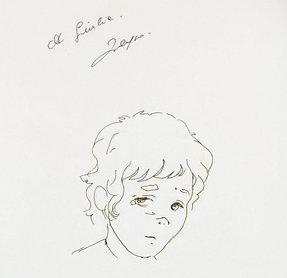 Mio caro fumetto... - La dedica di Filippo Paris alla mia copia di Qui c'è tutto il mondo