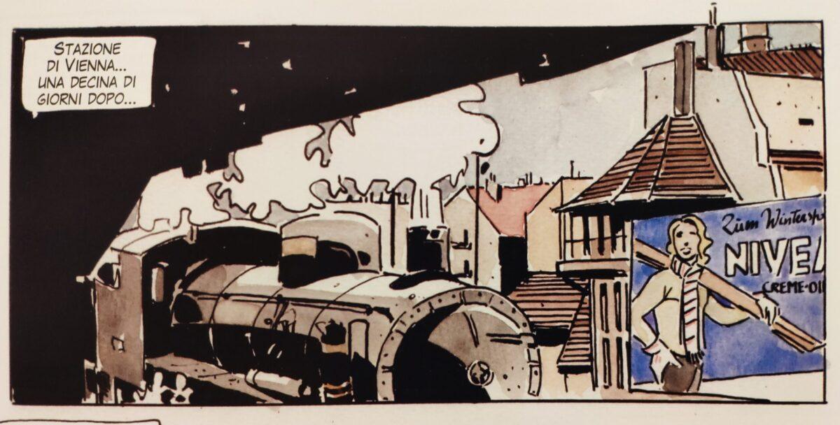 Mio caro fumetto... - L'arrivo del Commissario Baroni alla Stazione di Vienna