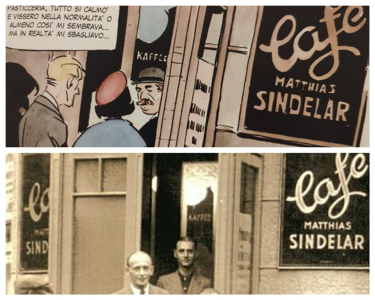 Mio caro fumetto... - L'entrata del Café Matthias Sindelar