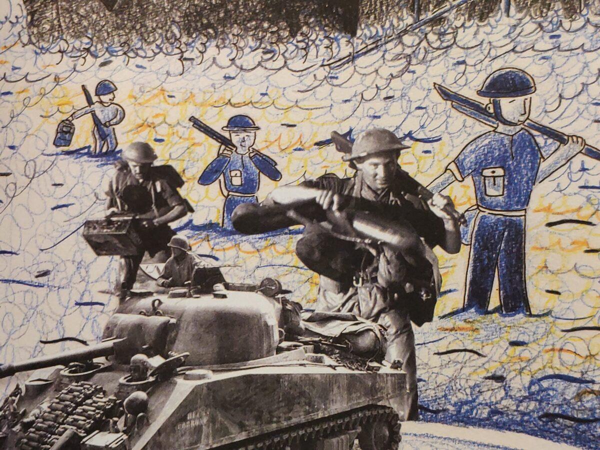 Mio caro fumetto... - Foto e disegni dialogano e descrivono lo sbarco degli alleati