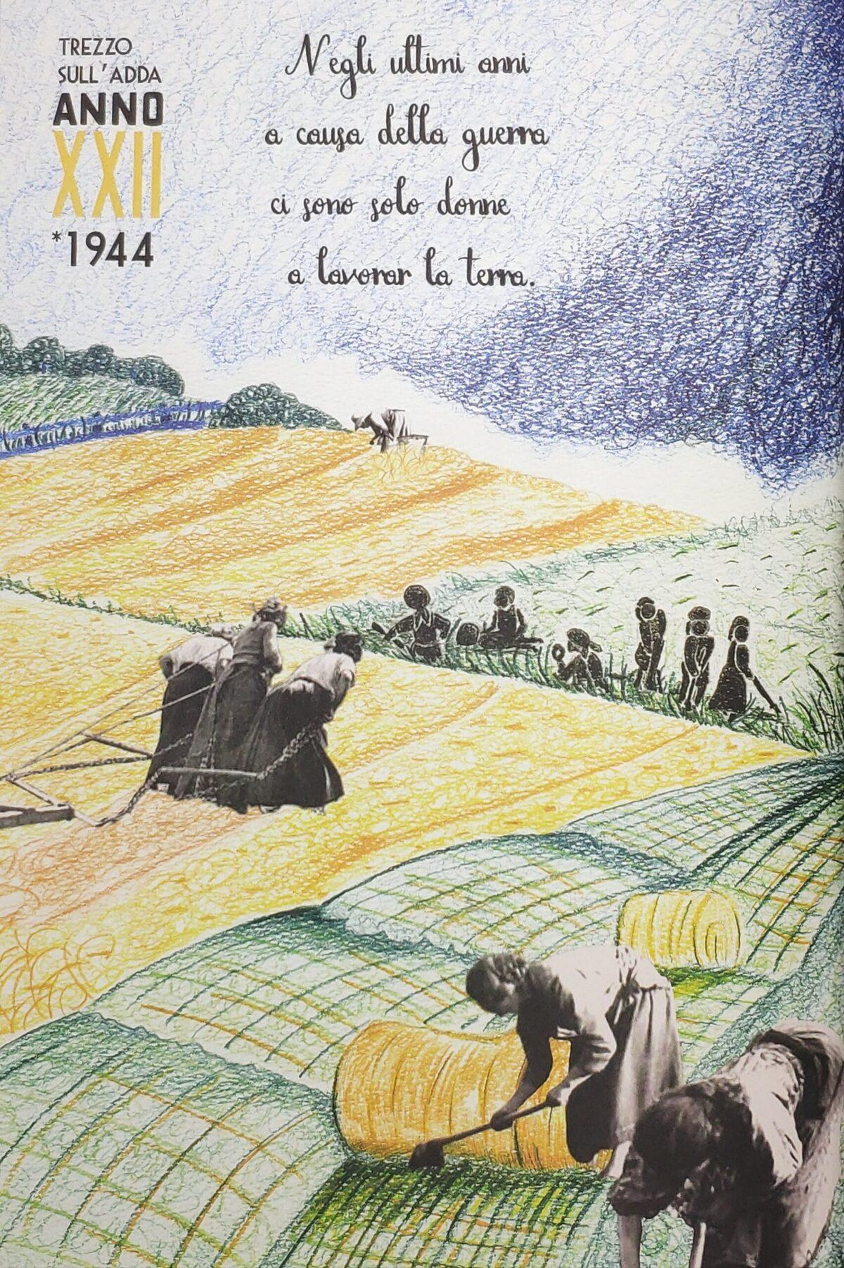 Mio caro fumetto... - Durante la guerra a Trezzo sull'Adda ci sono solo donne nei campi